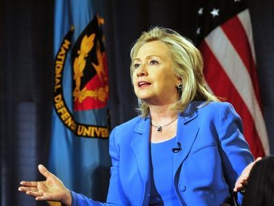 Hillary Clinton, US Secretary of State, Speaking at George Washington University, August 16, 2011 Photo