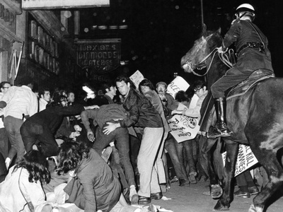Demonstrators Pushed by New York City Police Photo