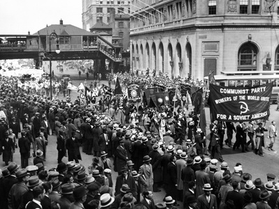 Reds Gather for 1934 May Day Parade to Union Square in New York City Photo