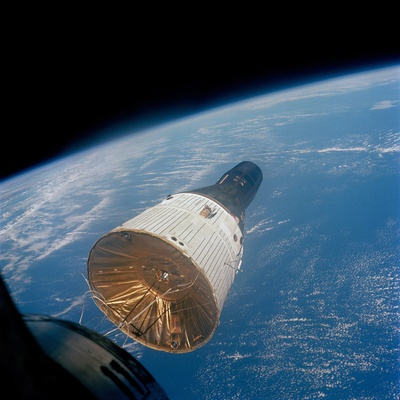 First Manned Space Rendezvous Photo