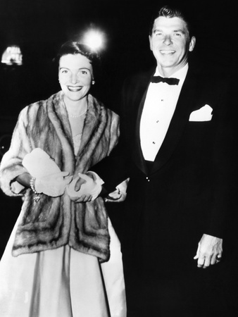 Ronald and Nancy Reagan Attended Movie Premiere of 'The High and the Mighty' in 1954 Photo