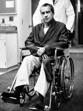 Former President Richard Nixon in Wheelchair Photo
