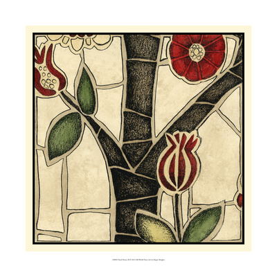 Floral Mosaic III Print by Megan Meagher