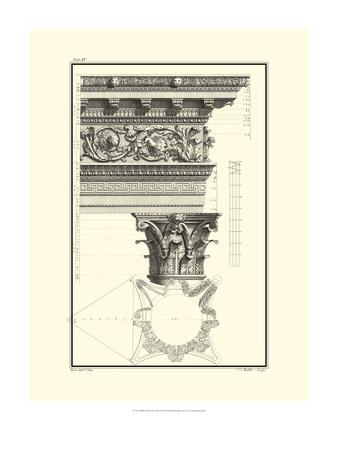 B&W Column and Cornice II Prints by Giovanni Borra
