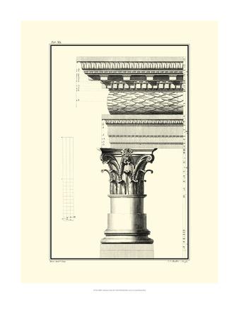 B&W Column and Cornice III Art by Giovanni Borra