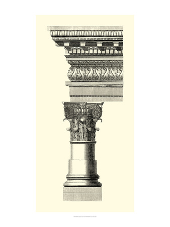 B&W Column and Cornice I Posters by  Vision Studio