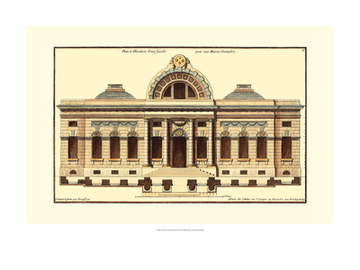 Architectural Facade III Print by Jean Deneufforge