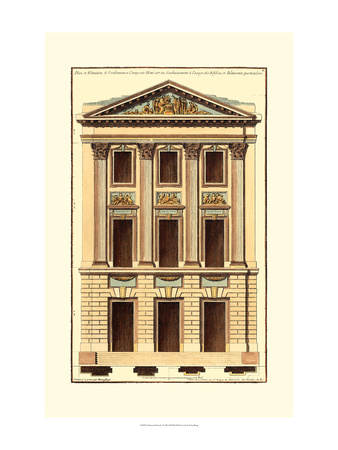 Architectural Facade I Poster by Jean Deneufforge