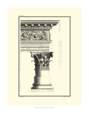 B&W Column and Cornice IV Prints by Giovanni Borra