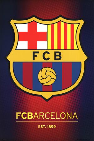 FC Barcelona Club Crest plakat