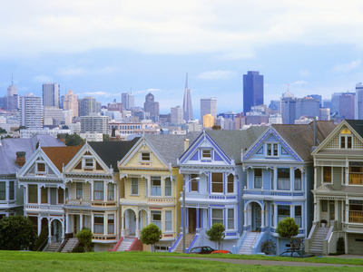 Alamo Square Park, San Francisco, California, USA Photographic Print by John Alves