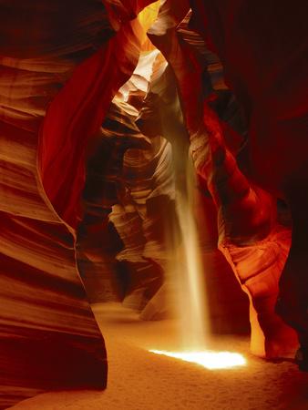 Slot Canyon, Upper Antelope Canyon, Page, Arizona, USA Fotografisk tryk af Michel Hersen
