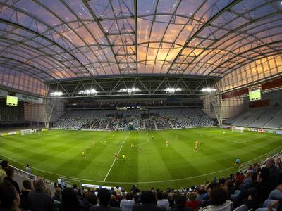 Football Game, Forsyth Barr Stadium, Dunedin, South Island, New Zealand - Fisheye Photographic Print by David Wall