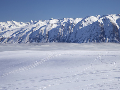 Roundhill Ski Area with Lake Tekapo and Hall Range, Mackenzie Country, South Island, New Zealand Photographic Print by David Wall