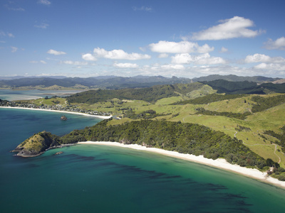 New Chums Beach, and Motuto Point, Coromandel Peninsula, North Island, New Zealand Photographic Print by David Wall