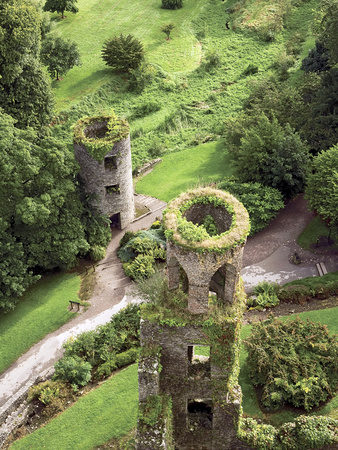 High Angle View of Towers, Blarney Castle, County Cork, Ireland Photographic Print by Miva Stock