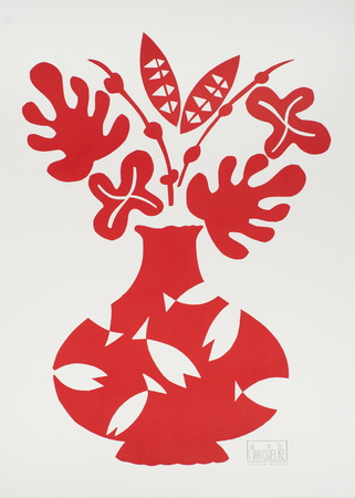Vase III Rouge Posters by Marco Del Re