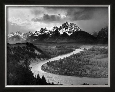 Tetons and The Snake River, Grand Teton National Park, c.1942 Prints by Ansel Adams