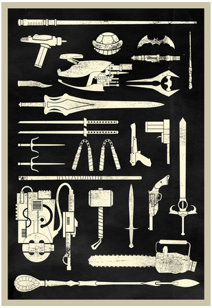 Tools of the Trade - Hero Weapons Posters