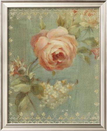 Rose on Sage Prints by Danhui Nai