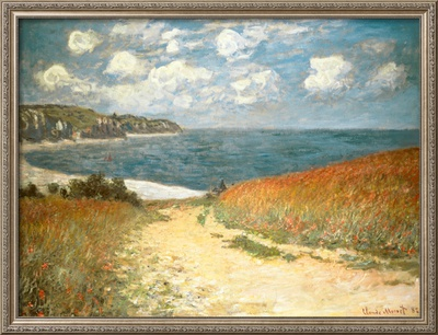 Path Through the Corn at Pourville, c.1882 Print by Claude Monet