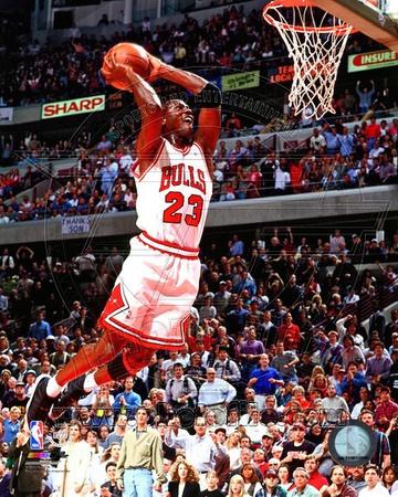 Michael Jordan dunk photo poster of 1994-1995 season