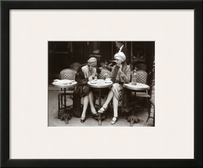 Women Sitting at a Cafe Terrace Posters