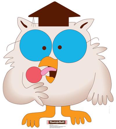 Mr. Owl - Tootsie Roll Lifesize Standup Cardboard Cutouts