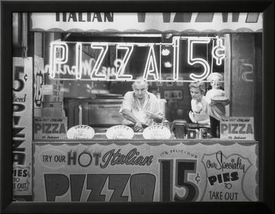 Hot Italian Pizza Prints by Nat Norman