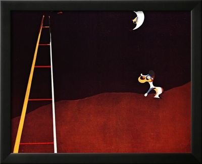 Dog Barking at the Moon Prints by Joan Miró