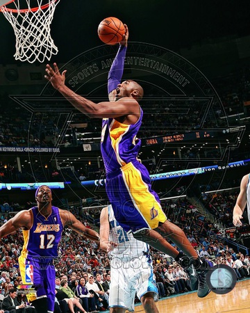 Kobe Bryant Dunking Action Highlight During the 2012-2013 NBA Season sports basketball photo poster