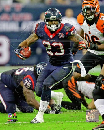 Arian Foster 2012 Playoff Action Photo