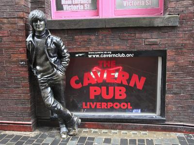 John Lennon Sculpture, Mathew Street, Liverpool, Merseyside, England, United Kingdom, Europe Photographic Print by Wendy Connett