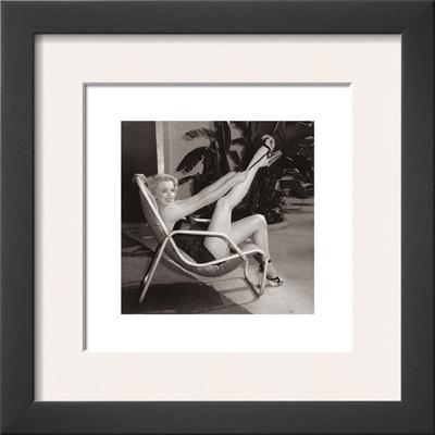 Marilyn Monroe, Poolside Prints by Frank Worth