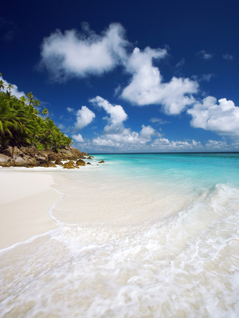 Tropical Beach, Seychelles, Indian Ocean, Africa Photographic Print by Sakis Papadopoulos