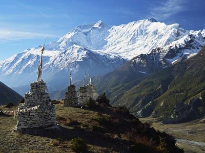 Annapurna Himalayan Range, Marsyangdi River Valley, Gandaki, Western Region (Pashchimanchal), Nepal Photographic Print by Jochen Schlenker