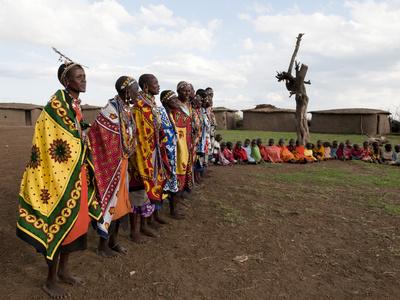 Masai, Masai Mara, Kenya, East Africa, Africa Photographic Print by Sergio Pitamitz
