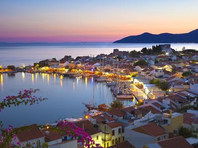 Harbour at Dusk, Pythagorion, Samos, Aegean Islands, Greece Lámina fotográfica