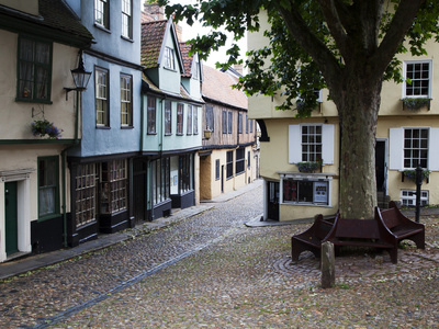 Old Buildings on Elm Hill, Norwich, Norfolk, England, United Kingdom, Europe Photographic Print by Mark Sunderland
