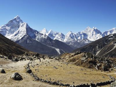Ama Dablam, Sagarmatha Nat'l Park, UNESCO World Heritage Site, Nepal Photographic Print by Jochen Schlenker