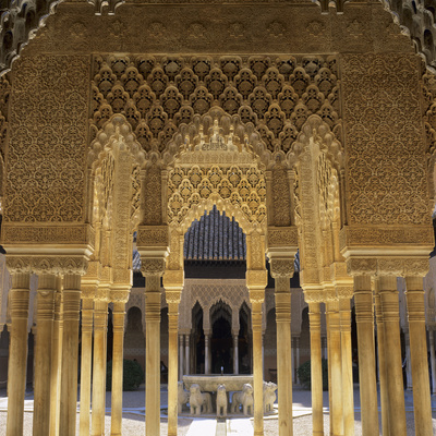 Court of the Lions, Alhambra Palace, UNESCO World Heritage Site, Granada, Andalucia, Spain, Europe Photographic Print by Stuart Black