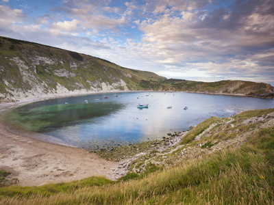 Lulworth Cove, Perfect Horseshoe-Shaped Bay, UNESCO World Heritage Site, Dorset, England Photographic Print by Neale Clarke