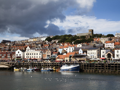 The Harbour at Scarborough, North Yorkshire, Yorkshire, England, United Kingdom, Europe Photographic Print by Mark Sunderland