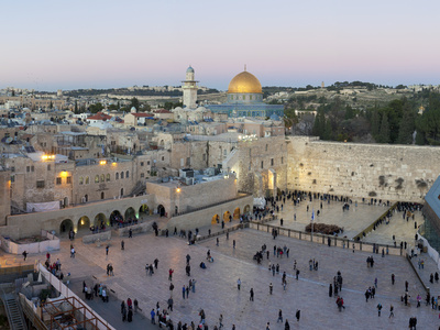 Jewish Quarter of Western Wall Plaza, Old City, UNESCO World Heritage Site, Jerusalem, Israel Photographic Print by Gavin Hellier