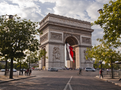 The Arc de Triomphe on the Champs Elysees in Paris, France, Europe Photographic Print by Julian Elliott
