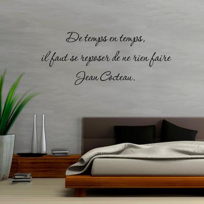 De temps en temps il faut se reposer de ne rien faire Vinilo decorativo por Jean Cocteau