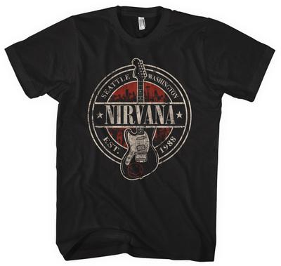 Nirvana - Established 1988 Guitar Stand T-Shirt