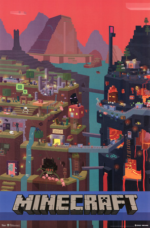 Minecraft cube poster artwork