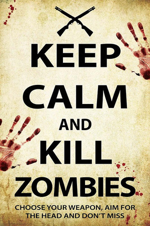 Keep Calm and Kill Zombies Posters