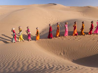 Desert Walk Photographic Print by Art Wolfe